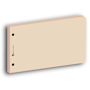 Intercalaire de révision rectangulaire beige