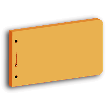 Intercalaire de révision rectangulaire orange