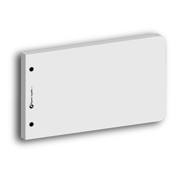 Intercalaire de révision rectangulaire blanc