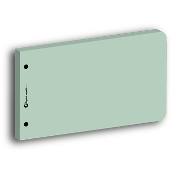 Intercalaire rectangle vert